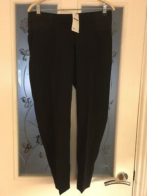 Ladies Clothes Size 10 ASOS Maternity Black Trousers Inside Leg 27.5 Inches New