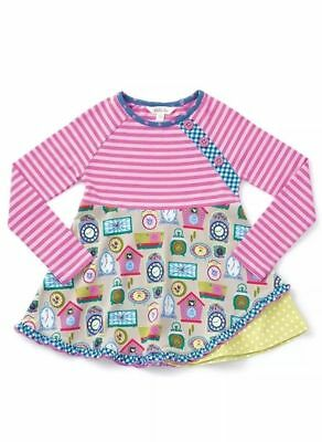 NWT Matilda Jane IN DISGUISE Top Girl Size 10 Stripe Clocks Tunic Make Believe