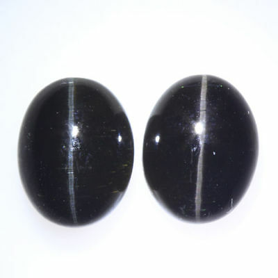 6.480 Ct VERY RARE FINE QUALITY 100% NATURAL SILLIMANITE CAT'S EYE INTENSE PAIR!