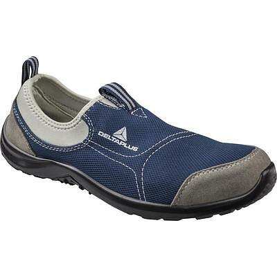 Delta plus Navy MIAMI safety shoes, lightweight slip on,Metal toe UK size 10.5