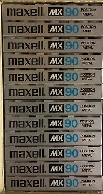 Maxell MX 90 Audio Cassette Tape 12 New Box Made in Japan 1983-1985