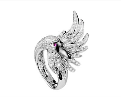 925 Sterling Silver cubic zircon ring fashion ring adore luxurious Swan ring
