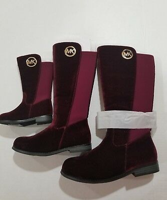 MICHAEL KORS EMMA LILY -T TODDLER/BABY PLUM (burgandy) SUEDE BOOTS GIRLS SIZE 8