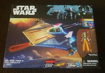 Star Wars Hera Syndulla A-Wing Rouge One Rebels Hasbro Nerf Action Figure NIB