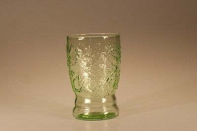 Hard to Find Vintage Federal Glass Green Madrid Water Tumbler c.1935