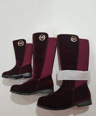 MICHAEL KORS EMMA LILY T GIRLS SUEDE PLUM (burgandy) BOOTS YOUTH SIZE 5 BIG KIDS