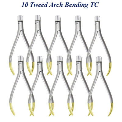 10 Orthodontics Tweed Arch Bending / forming Pliers TC Ortho Dental instruments