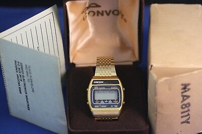Vintage LCD(NOS)New old stock w/BOX/Case/Paper.Multi-function/feature MensWATCH.