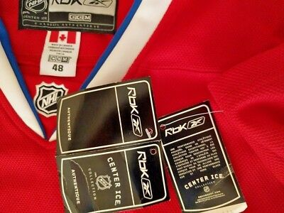 Reebok Men's Authentic Jersey CCM NHL Center ICE Hockey Shirt, Made in Canada