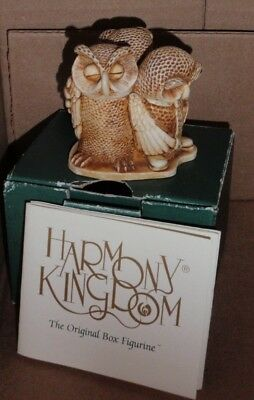 1999 Harmony Kingdom Wise Guys Owls Small Treasure Box Original Box