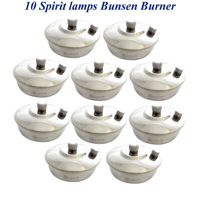 10 Dental Spirit Lamp Alcohol Bunsen Burner Woven Wick Labortory instruments CE