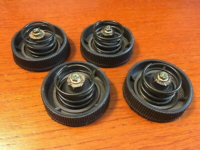 Technics SL-230 Turntable Parts - Rubber Feet w/ Springs (Set of 4)