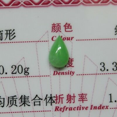 1ct ** Best Jade Certified Grade A 100% Natural Untreated Green Jadeite Cabochon