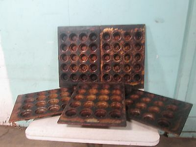 """Lot Of (5) """"amco Bakeware"""" H.d. Commercial Crown Muffin/cup Cake Baking Pans"""