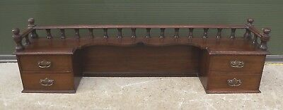 Antique Edwardian Oak Bank Of Small Drawers For Dressing Table Or Desk