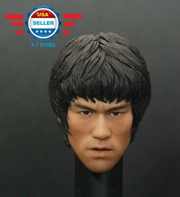 1/6 Scale Bruce Lee Head Sculpt for 12'' male figure body