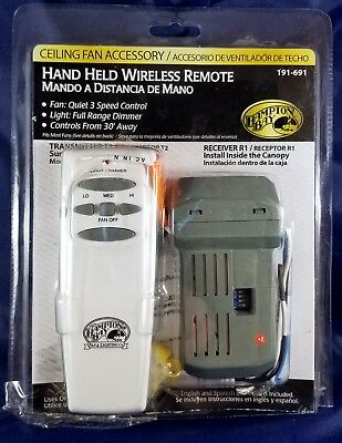 Hampton bay hand held wireless remote ceiling fan control model t2r1 hampton bay hand held wireless remote ceiling fan control model t2r1 191 691 mozeypictures Image collections