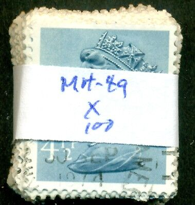 Great Britain Sg-X865, Scott # Mh-49 Machin, Used, 100 Stamps, Great Price!