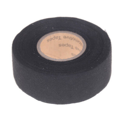 Black 32mm*12m Adhesive Cloth Fabric Tape Cable Looms Wiring Harness ^G