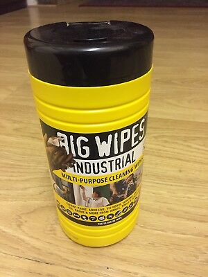 Big Wipes 2410 4x4 Multi-Purpose Cleaning Wipes Tub of 80