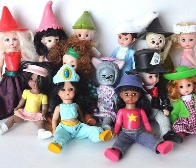 13 dolls Madame Alexander McDonald lot lion Oz Fairy Jasmine Alice Wonderland