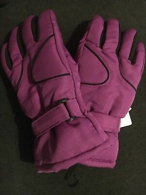 27b6c503b NEW 3M Thinsulate Girls Size 7-16 Purple Snow Ski Gloves. Free Shipping!