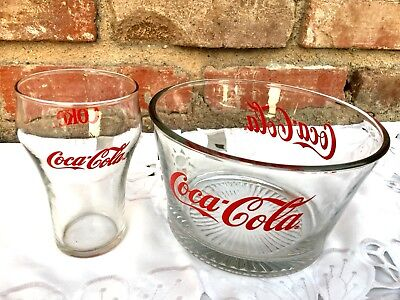 Coca Cola Snack BOWL and Matching GLASS