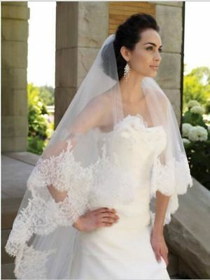 Long Two Tiered Long Bridal Veil