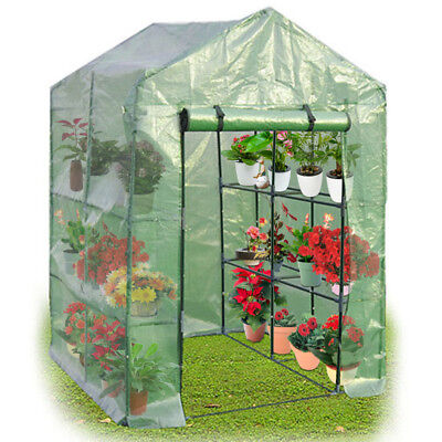 Costway Portable Mini Walk In Outdoor 4 Tier 8 Shelves perfect grow  Greenhouse