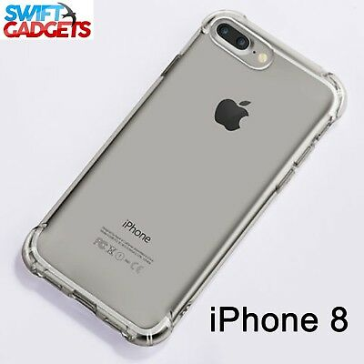 For iPhone 8 Shock Proof Crystal Clear Soft Silicone Gel Bumper Cover Case Slim