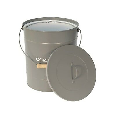 Extra Large Charcoal Grey Compost Pail - Kitchen Caddy Bin - 10 Litre