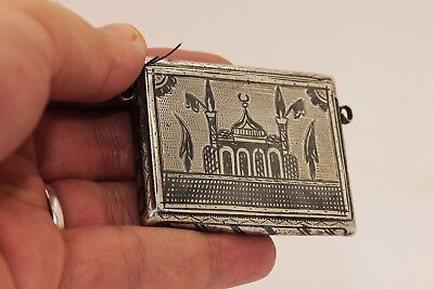 Antique Original Silver Ottoman Islamic  Niello Amazing Quran Container