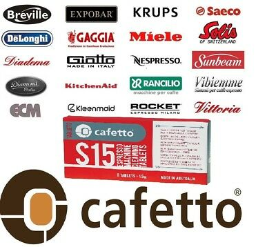 Cafetto S15 Espresso Coffee Machine Cleaning Tablets - Designed for KITCHENAID