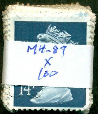 Great Britain Sg-X903, Scott # Mh-87 Machin, Used, 100 Stamps, Great Price!