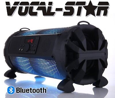 Battery Powered Portable Music Ghetto Stereo Bluetooth Speaker & Lights Effects