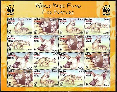 Eritrea 2001 WWF Aardwolf/Earth Wolf Animals Nature Wildlife Environment sht NH