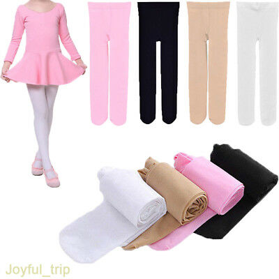 Kids Girls Gymnastics Ballet Dance Tights Opaque Pantyhose Long Stockings Socks