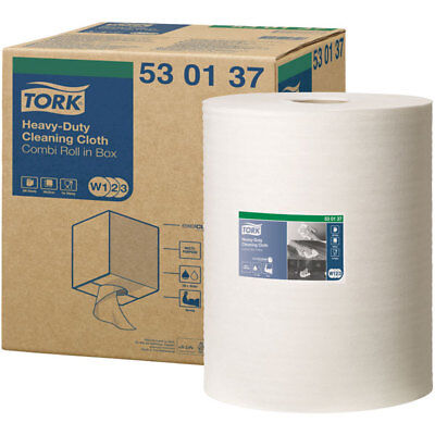 Tork 530137 Heavy-Duty Cleaning Cloth - W1/2/3 System - 1 Roll Of 280
