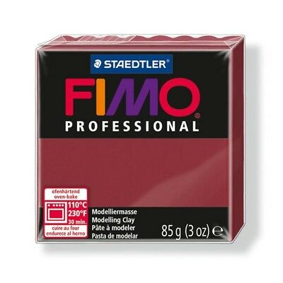 85g Bordeaux Fimo Modelling Clay - Professional Polymer Oven Bake Moulding Block
