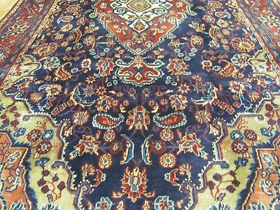 A BRILLIANT OLD HANDMADE SAROKH PERSIAN RUG (270 x 137 cm)