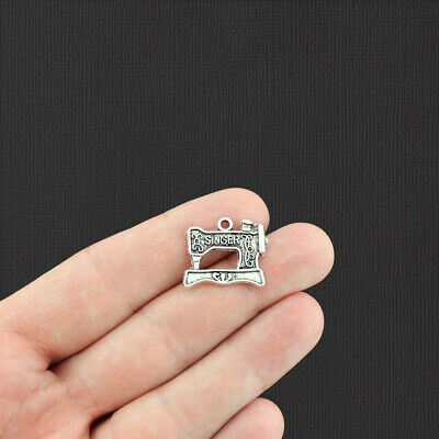 SC890 BULK 30 Sewing Machines Charms Antique Silver Tone Beautiful 3D