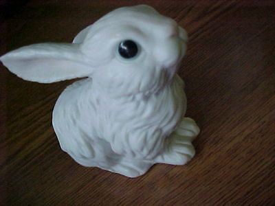 Porcelain Bunny Rabbit figurine, Small for Easter or Spring, numbered on bottom