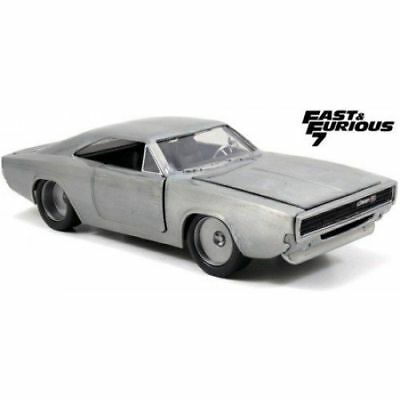 1968 Dodge Charger R/T - Bare Metal 'Fast & Furious 7' , Classic Metal Model Car
