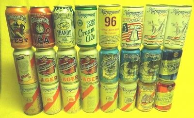 23 Different Vintage Narragansett Beer Cans Nautical Ship Sailboat Jaws Quint