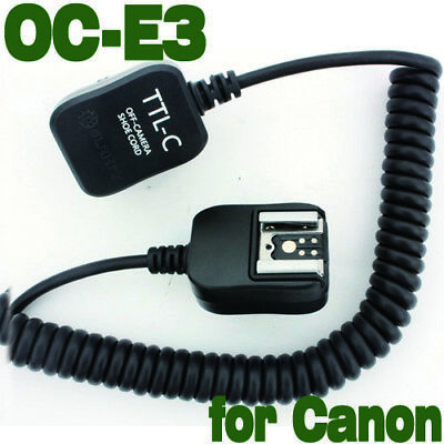E-TTL FLASH Off Camera Cord Hot Shoe for Canon 600EX 430EX 580EX II 380EX OC-E3