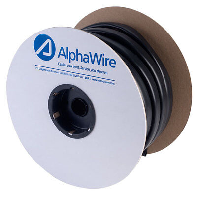 Alpha Wire P1059/16 BK005 Multi purpose PVC Tubing Black 14.27mm (100ft reel)
