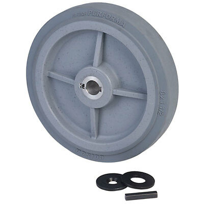 """Ampflow 8"""" High-Traction Drive Wheels with 3/4"""" Keyed Hubs"""