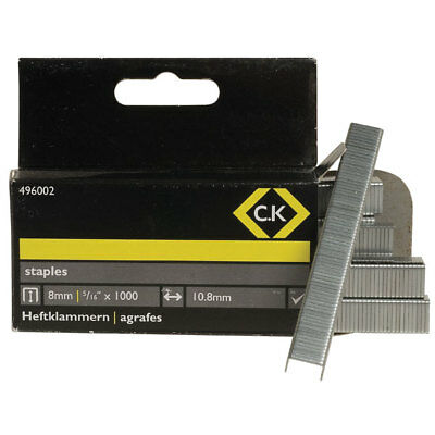 CK Tools 496002 Staples 10.5mm wide x 8mm deep Box Of 1000