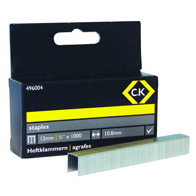 CK Tools 496004 Staples 10.5mm wide x 12mm deep Box Of 1000
