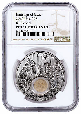 2018 Niue In Footsteps of Jesus Bethlehem 1 oz. Silver $2 NGC PF70 UC SKU53381